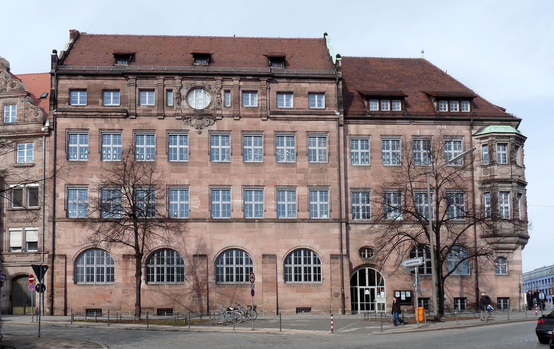 Primary School, Paniersplatz School house(front roof lantern, lost in the war)