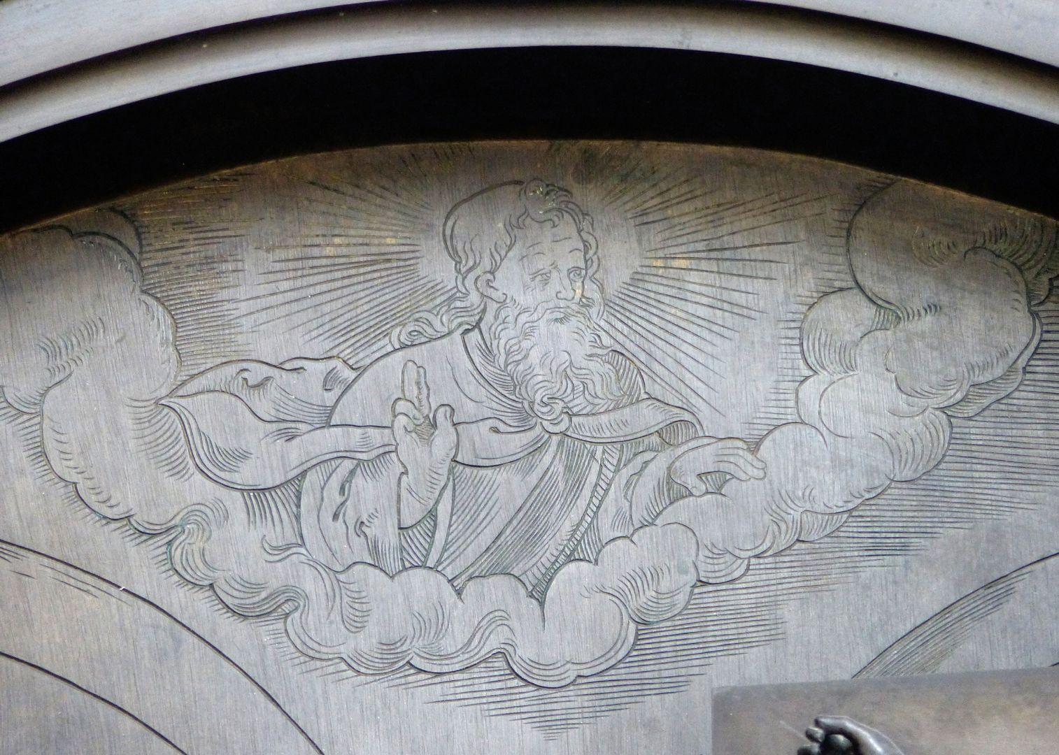 Walter von Cronberg Tympanon, Gottvater