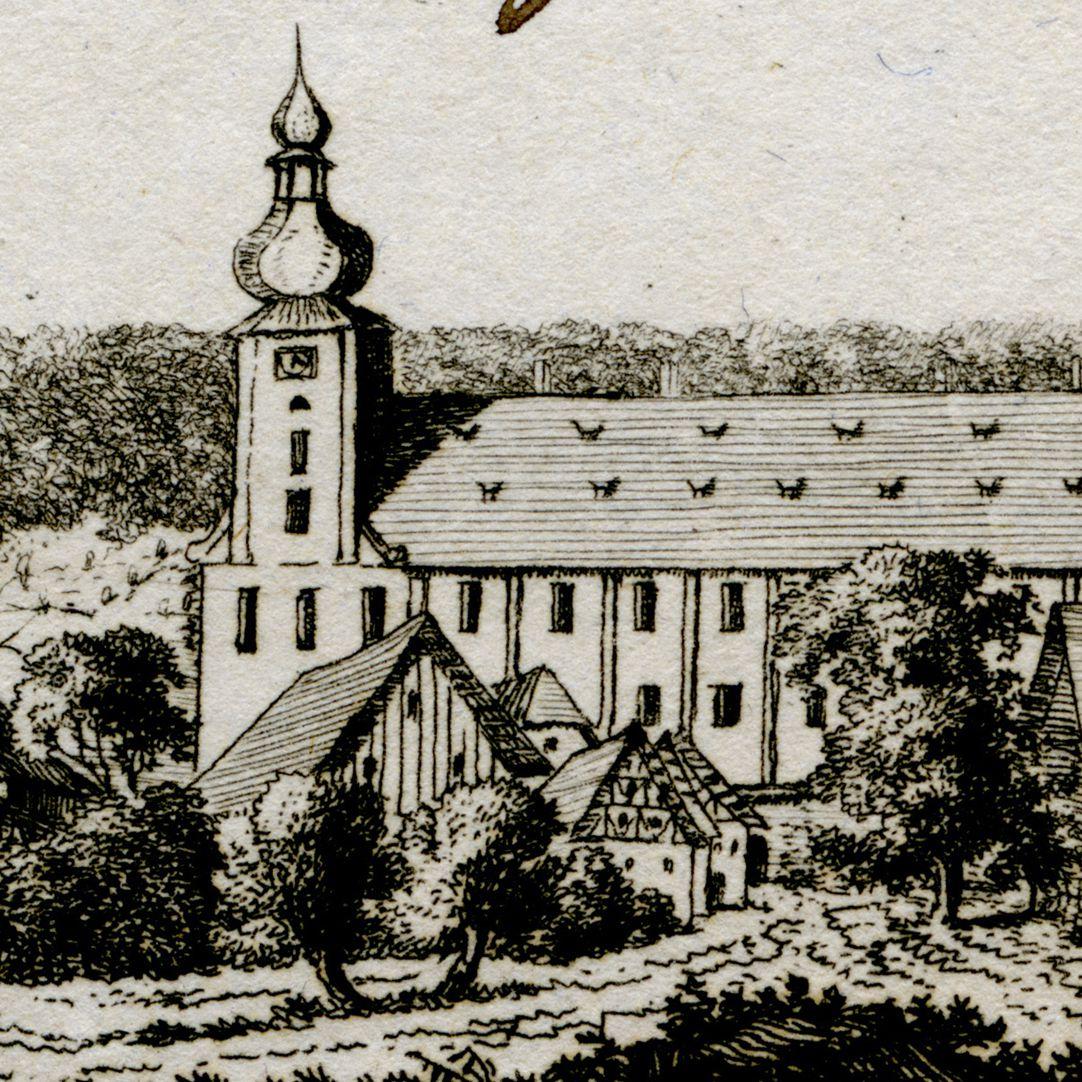 Weisennohe bey Graefenberg (Weißenohe) Detail view with abbey church