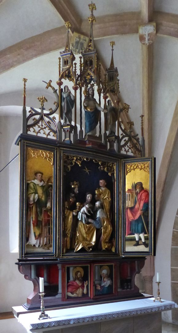 Wendelstein Three-Kings´ Altar General view with open main piece
