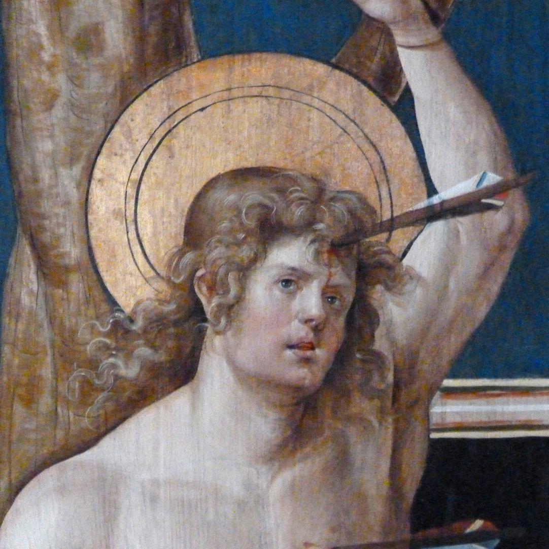 Wendelstein Three-Kings´ Altar St. Sebastian, detail