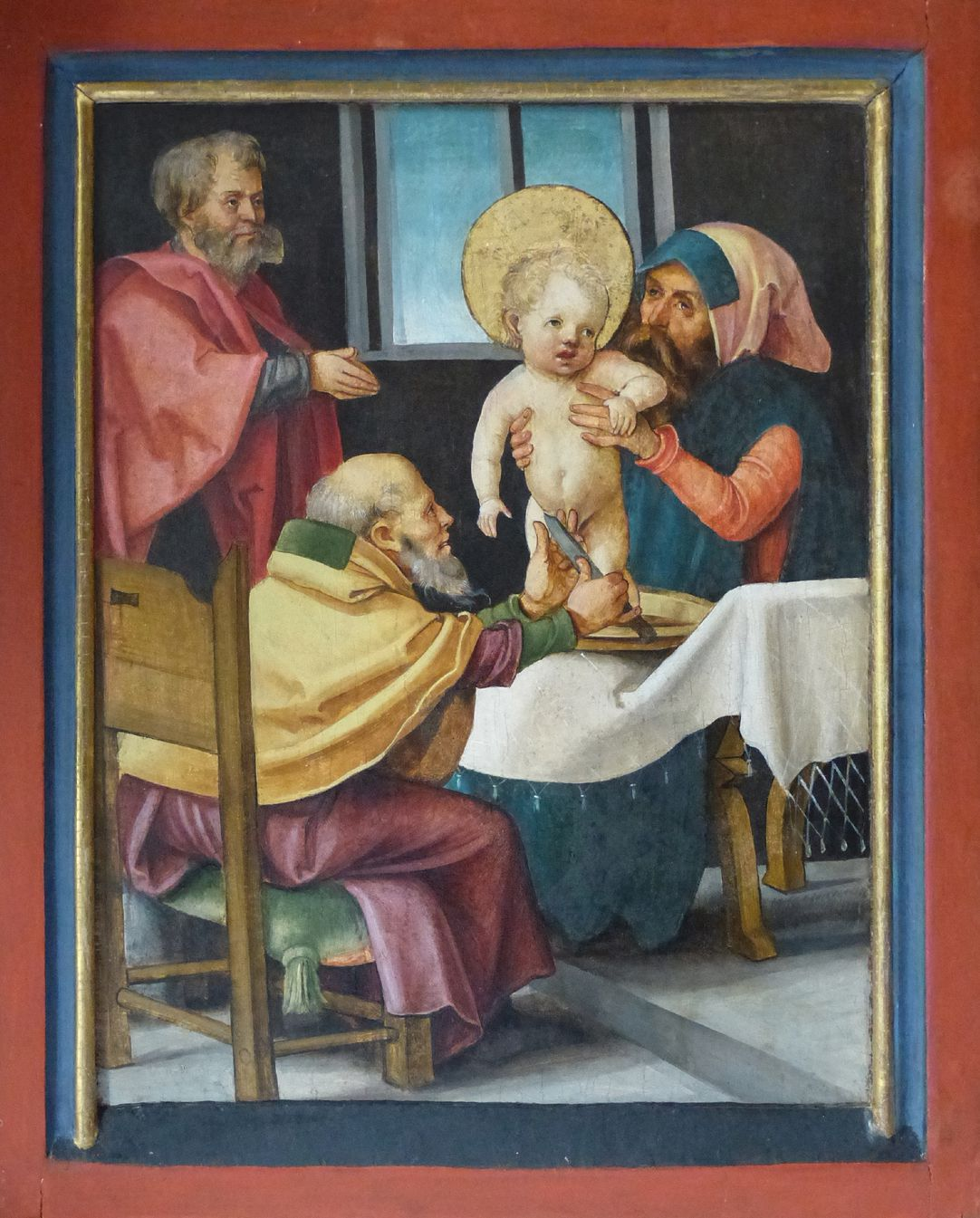 Wendelstein Three-Kings´ Altar Predella right wing: Circumcision of Christ