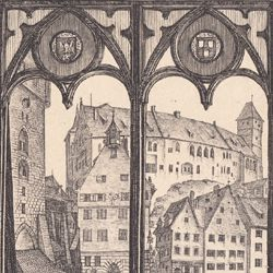View from A. Durer´s house towards the castle in Nuremberg
