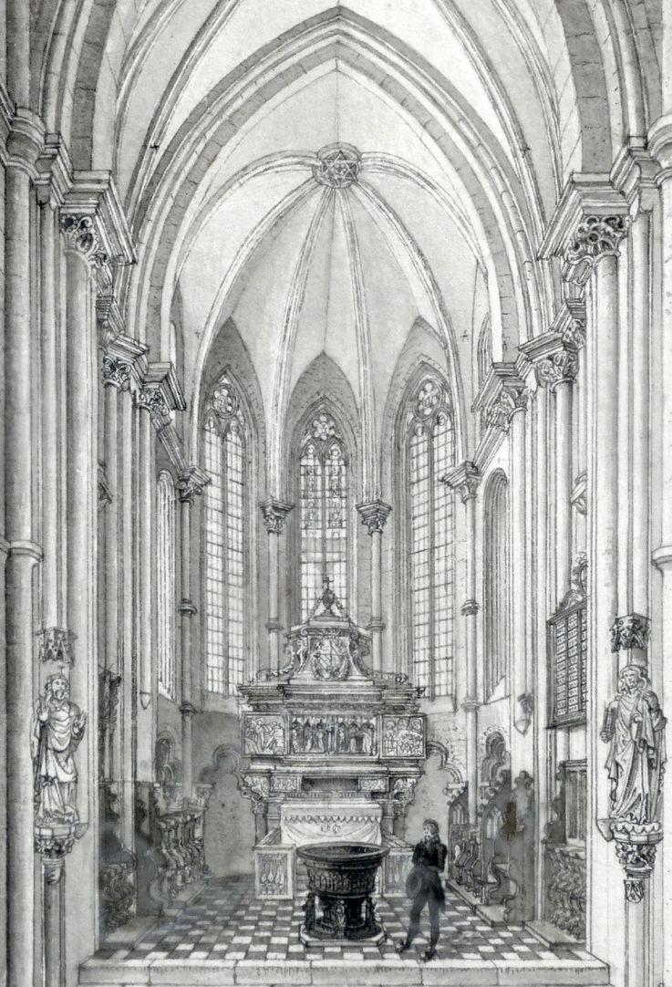 Interior of St. Sebaldus Church in Nuremberg, west choir Detail