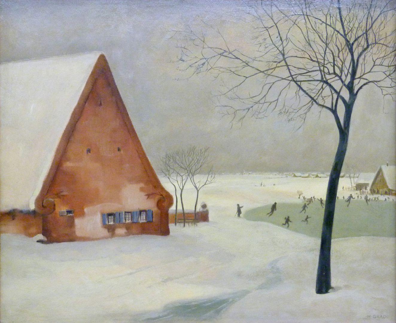 Winter in Knoblauchsland near Nuremberg