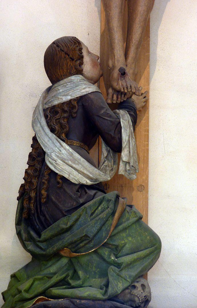 Crucifixion group Mary Magdalene