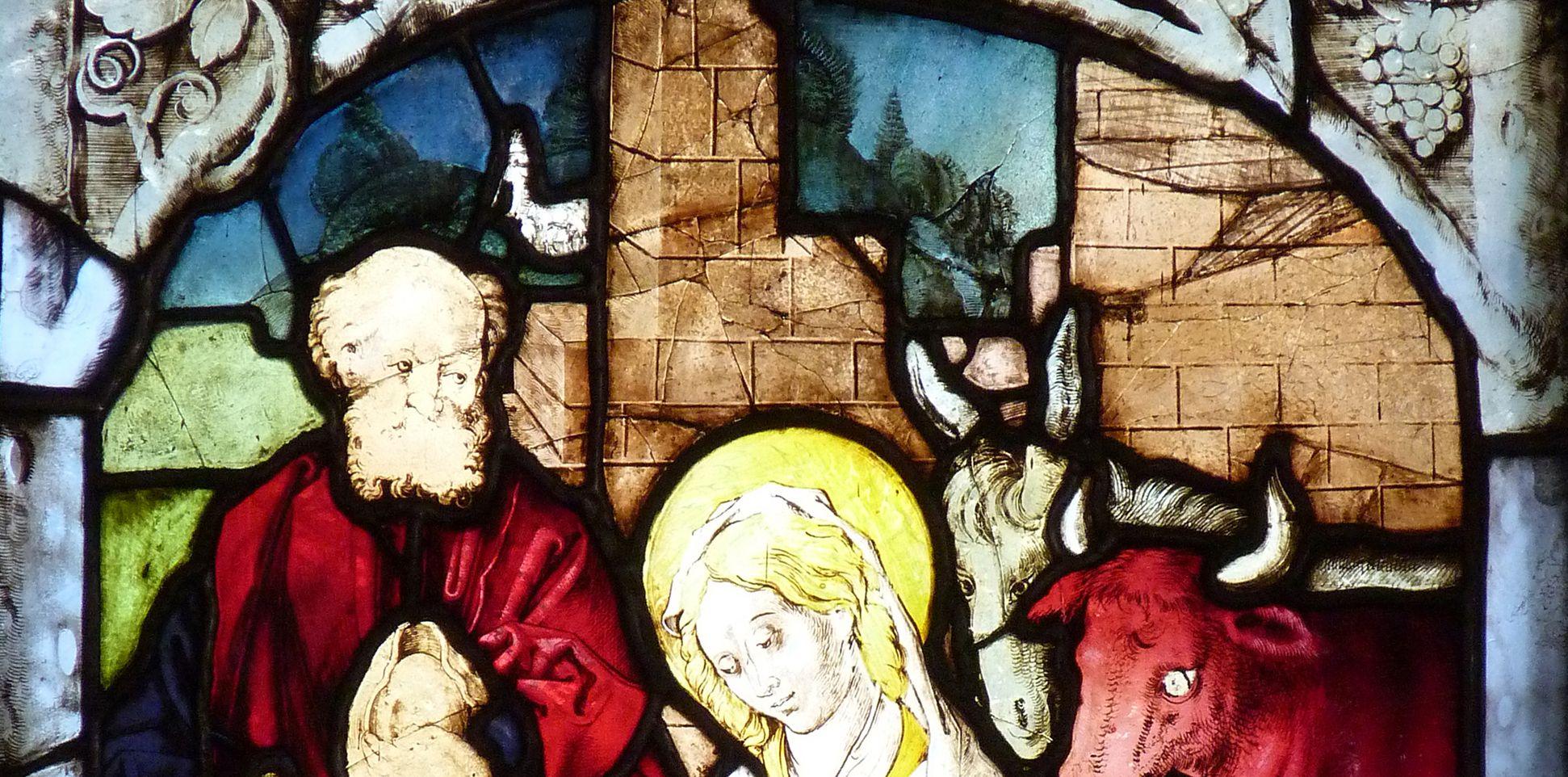 St. Bartholomäus, Chorfenster n II Zweite Zeile, Fenster b, Detail der oberen Bildhälfte