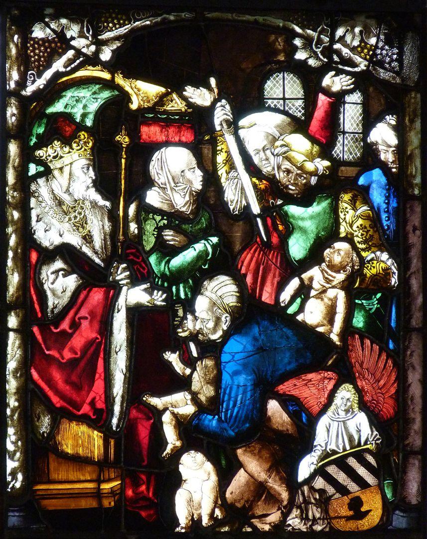 St. Bartholomäus, Chorfenster n II Dritte Zeile, Fenster b, Kindermord zu Bethlehem