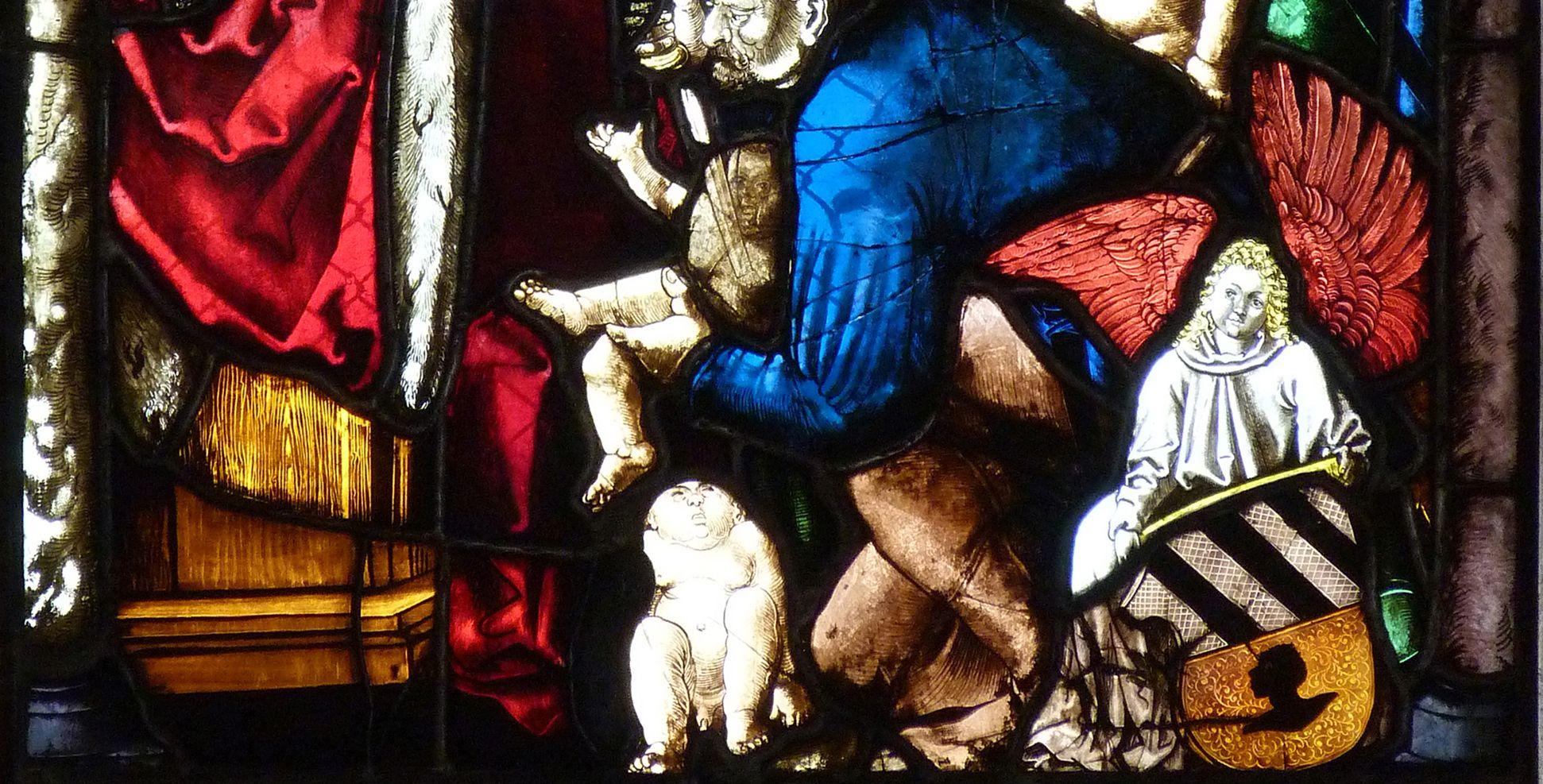 St. Bartholomäus, Chorfenster n II Dritte Zeile, Fenster b, untere Bildhälfte