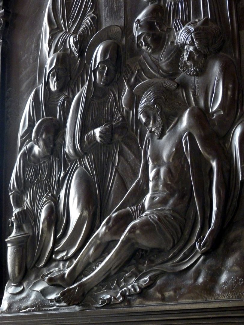 Weeping over the dead Christ: Epitaph Eisen-Behaim Diagonal view with highlight