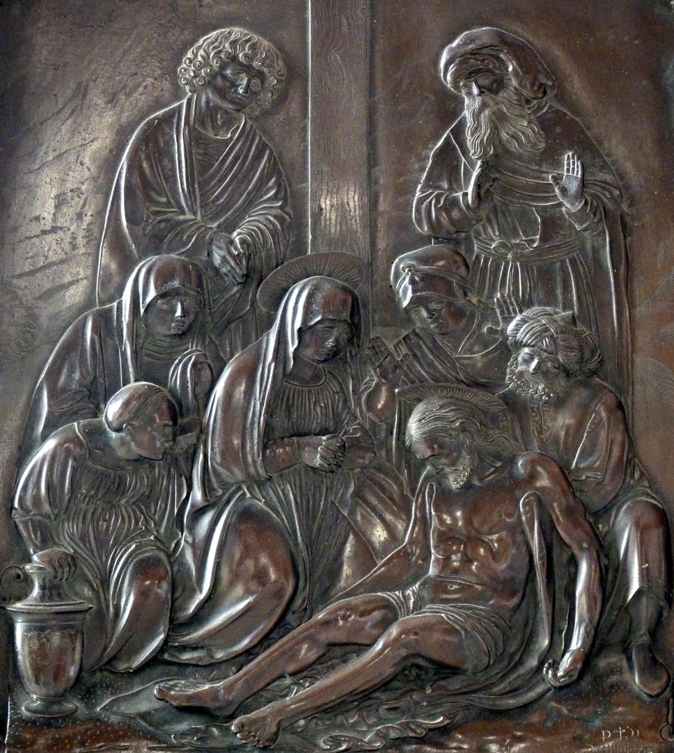 Weeping over the dead Christ: Epitaph Eisen-Behaim Scene of the weeping over the dead Christ
