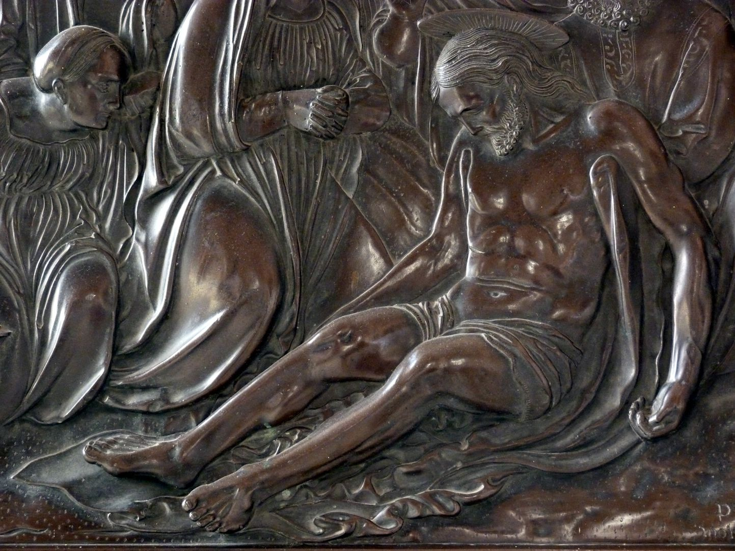 Weeping over the dead Christ: Epitaph Eisen-Behaim Weeping over the dead Christ, detail