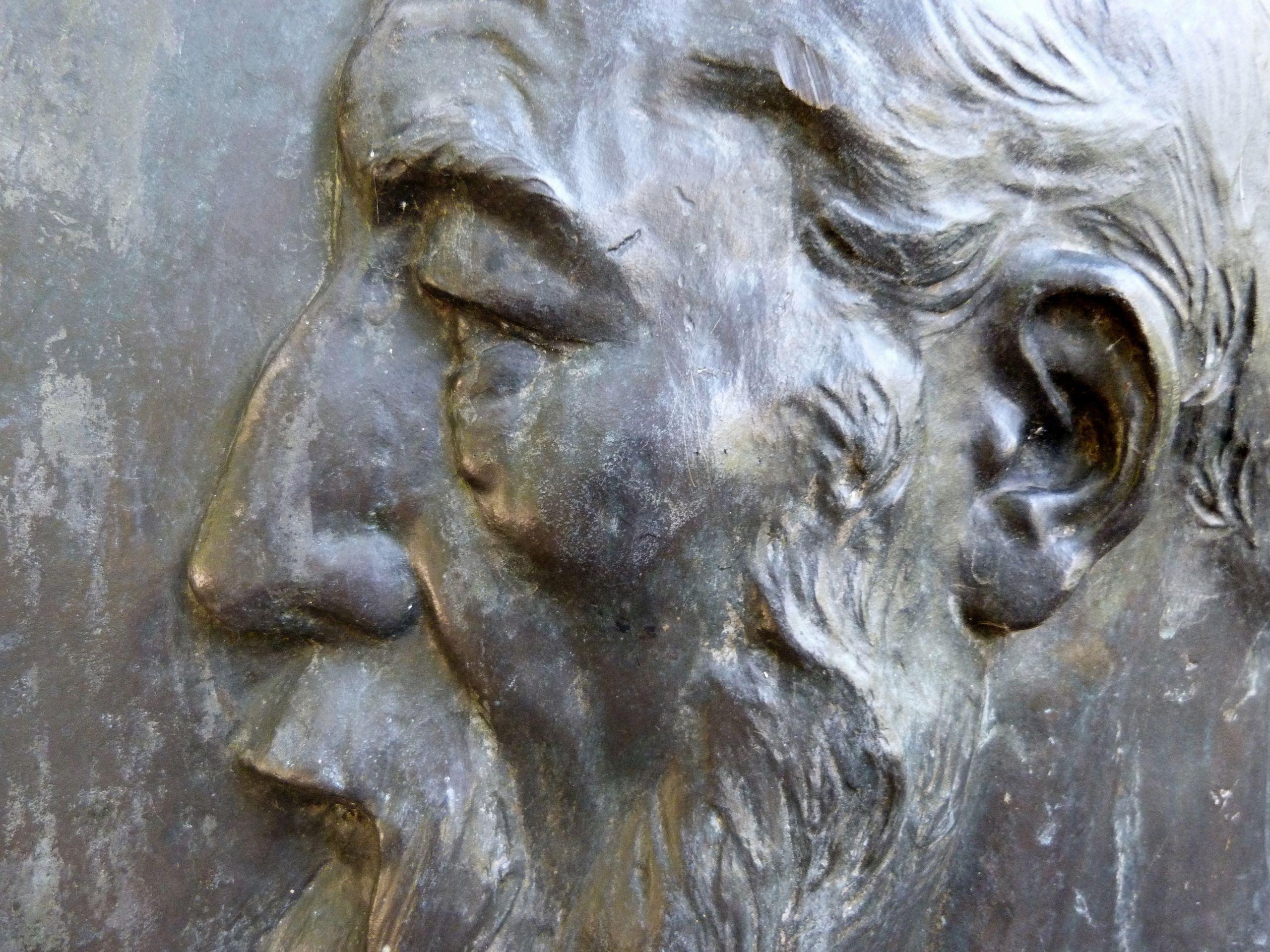 Commemorative plaque, Ludwig Andreas Feuerbach Portrait detail