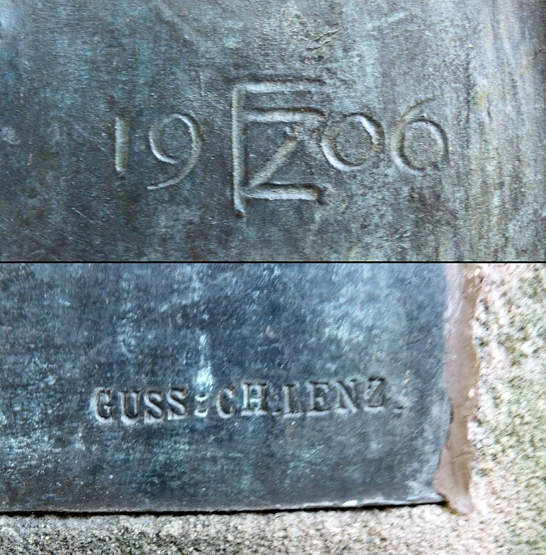 Commemorative plaque, Ludwig Andreas Feuerbach Signature of artist and founder