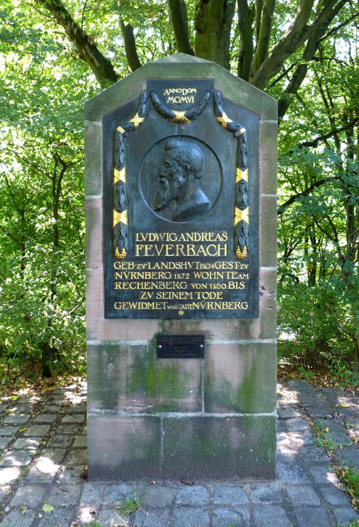 Commemorative plaque, Ludwig Andreas Feuerbach Total view