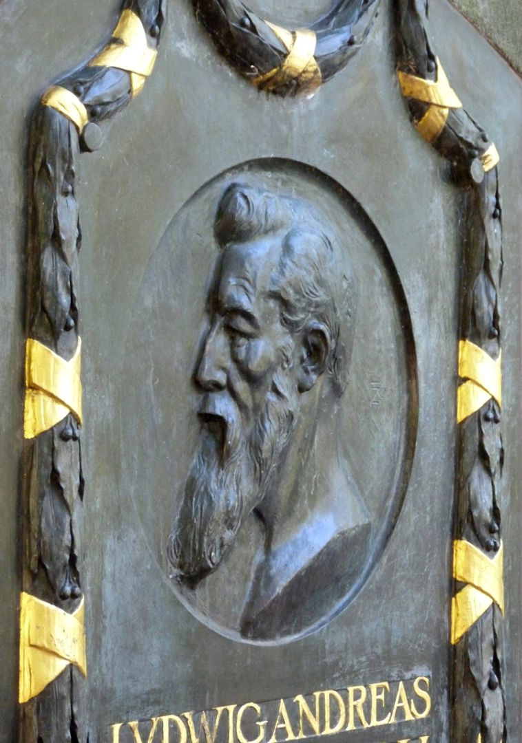 Commemorative plaque, Ludwig Andreas Feuerbach Portrait, lateral view